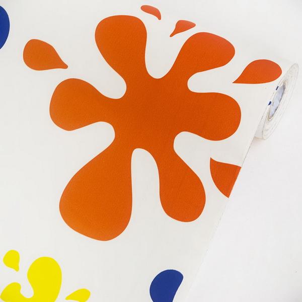 Colorful Snowflakes - Wallpaper Home Decor