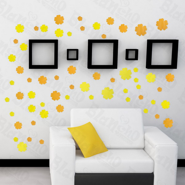 summer flowers large wall decals stickers appliques home decor blancho bedding